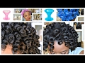 TWO WAYS To Get Perfect Curls : NO HEAT : 4C Natural Hair & Spoolies