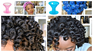 Get Perfect Curls : TWO Ways - 4C Natural Hair & Spoolies Hair Curlers: No Heat CURLS!