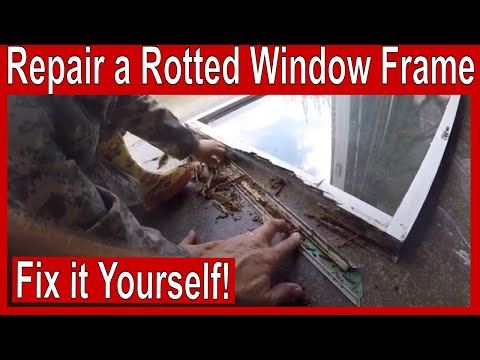 How to Repair a Rotted Window Frame