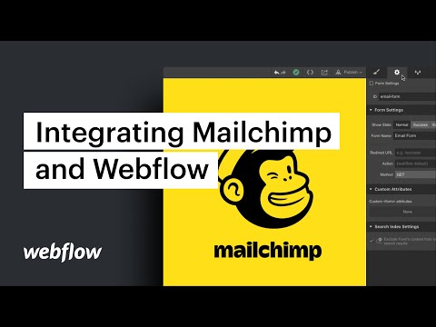 Integrating Mailchimp and Webflow — Webflow tutorial thumbnail