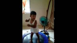 very funny 2 years old funny baby dancing 2016