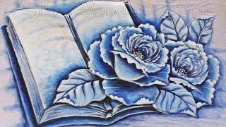 Pintura Monocromática – Pintura em Tecido por Adilson G. Amaral