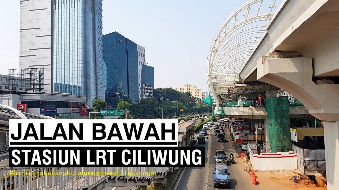 ⁴ᴷ⁶⁰ Walking Around ~ Stasiun LRT Jabodebek Ciliwung ~ Jakarta
