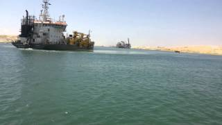 Historic Day: Expiration dredging the new Suez Canal July 24, 2015