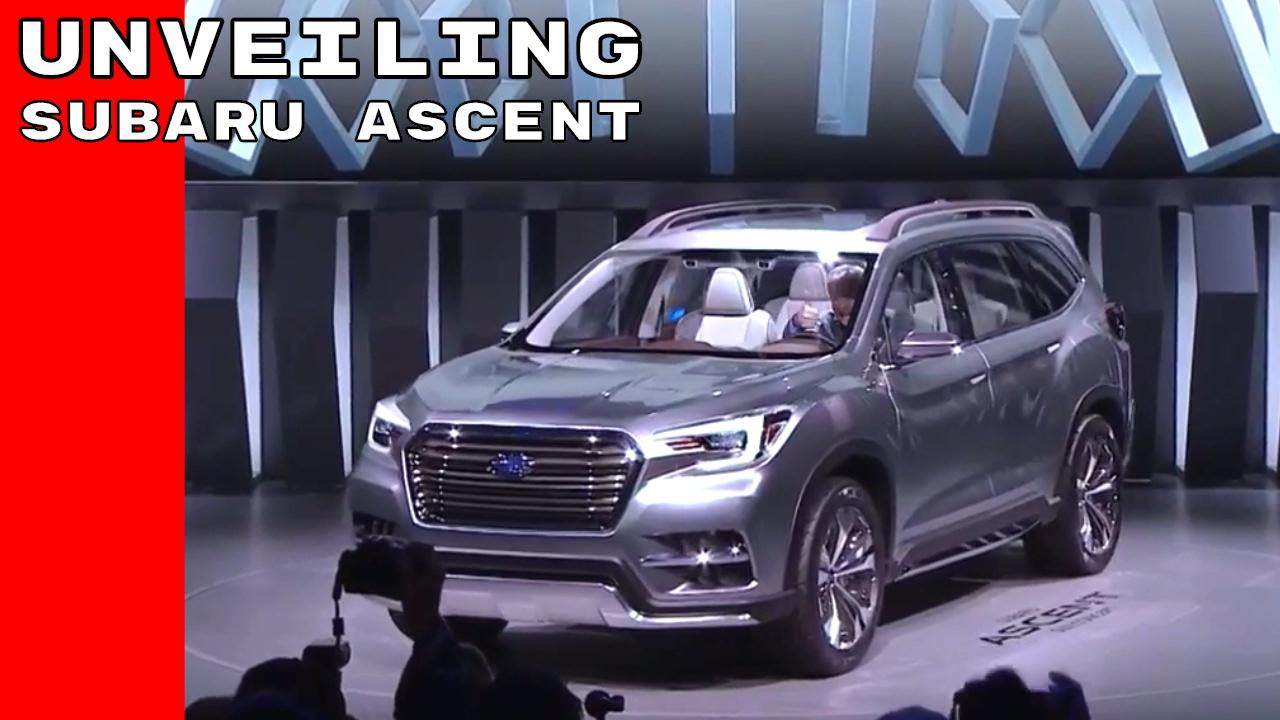 Subaru Ascent Suv 7 Penger Concept Unveiling