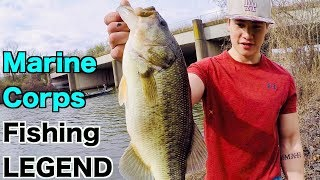 Fishing with a Marine Corps LEGEND!!! (Bank Fishing the Potomac River)