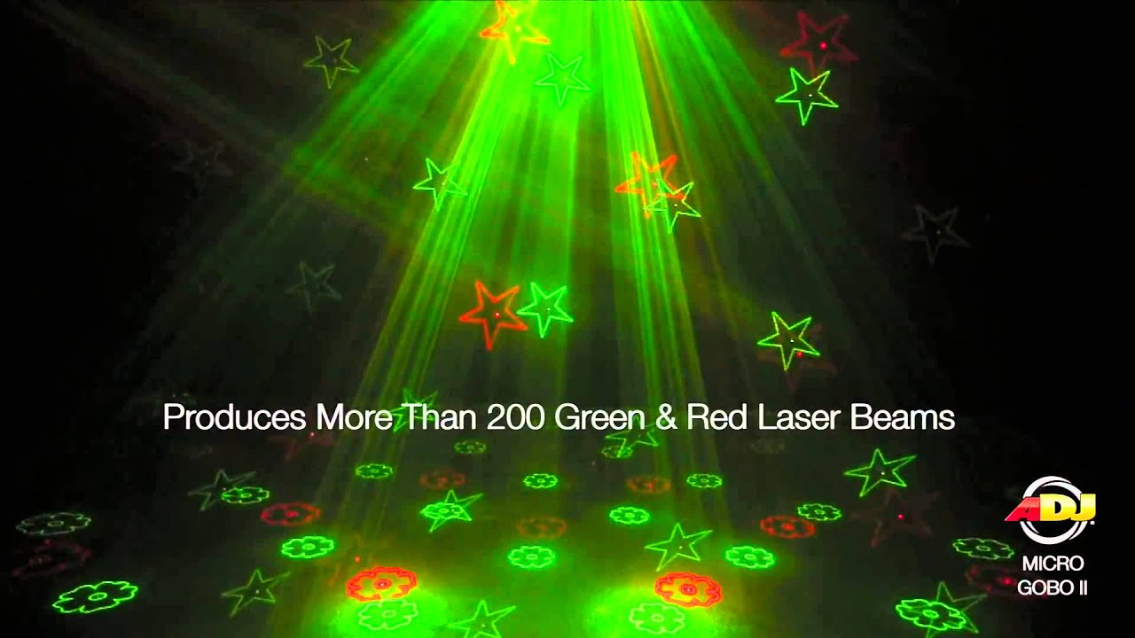 American Dj Micro Gobo Ii Green Amp Red Laser Youtube
