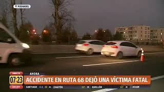 Atropello deja una víctima fatal en la Ruta 68