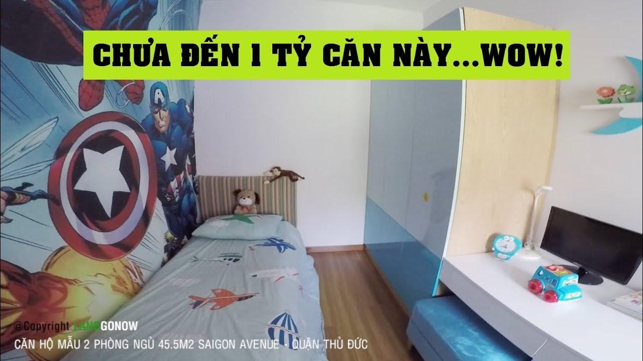 Căn hộ nhà mẫu Saigon Avenue, 2 phòng ngủ 45.5m2, Gò Dưa, Tam Bình, Thủ Đức – Land Go Now ✔