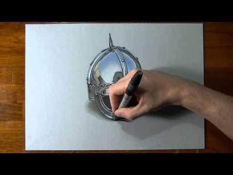 Speed Painting - Viking Helmet Ускоренное рисование - Шлем викинга