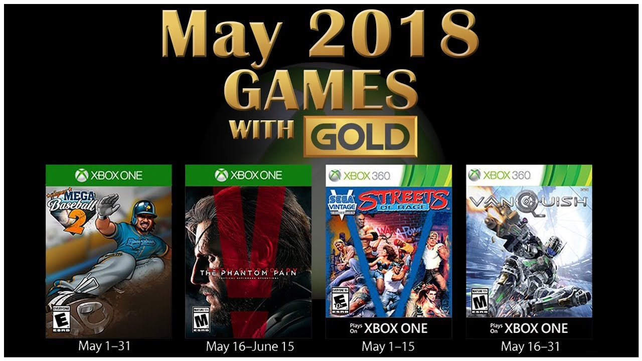 Xbox Live Games With Gold May 2018