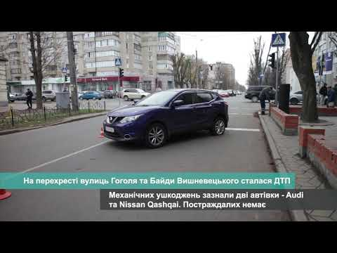 Телеканал АНТЕНА: На перехресті вулиць Гоголя та Байди Вишневецького сталася ДТП