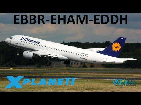 X-Plane 11 | LUFFFFTHANSA!!  | A319 A320 | VATSIM | Brussels, Amsterdam & Hamburg!!