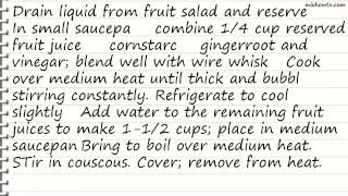 Recipe Couscous and Chicken Fruit Salad