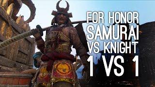 For Honor DUEL MODE Gameplay - 1 v 1 - Knight vs Samurai