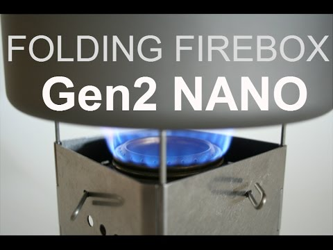 Gen2 Folding Firebox Nano! Even More Adapted To Trangia Spirit Burner Use