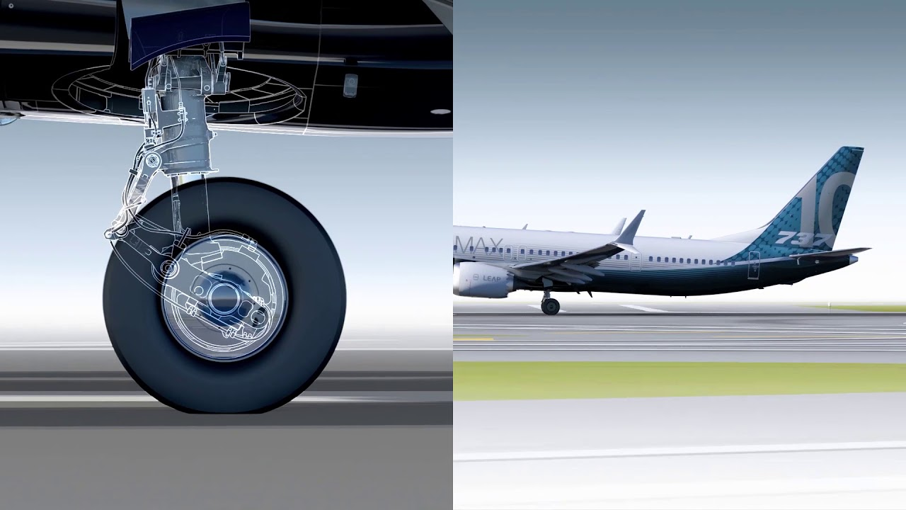 How the 737 MAX 10 landing gear works