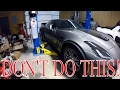 How NOT to lift a 100k dollar Corvette!