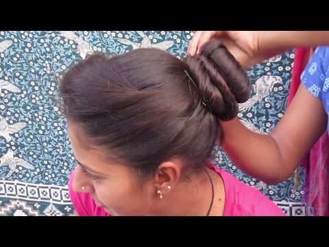 Side Puff Messy Bun Hairstyle || Juda Hairstyle