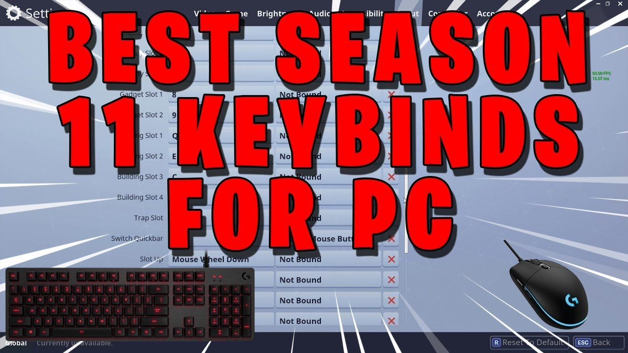 New Best Keybinds For Fortnite Pc In Season 11 Chapter 2 Tfue S Keybinds Settings Youtube