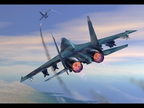 Серьезные игры на Тушино 17.05.14 Т2 Clear Sky / Воздушный бой 2 Су-27 против F-35