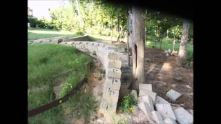 Collapsed Retaining Wall Reconstruction