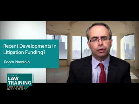 Recent Developments in Litigation Funding