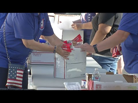 Blue Star Moms pack up a taste of home for troops overseas