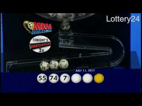 2017 07 11 Mega Millions Numbers and draw results