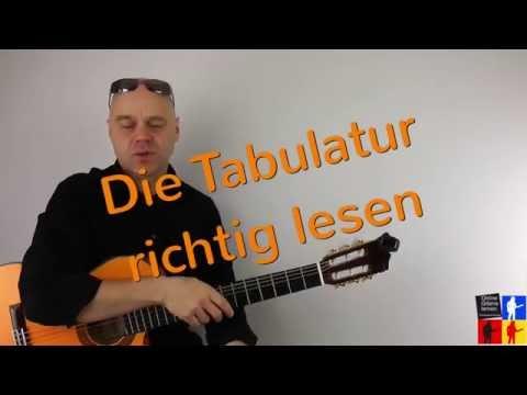 Richtig Tabulatur lesen Gitarre lernen