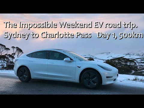 Impossible Weekend EV Road Trip, Syd To The Highest Road In Australia. Day 1.