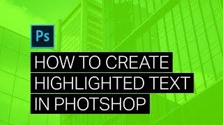 إنشاء تشد الانتباه النص المميز - Photoshop Tutorial