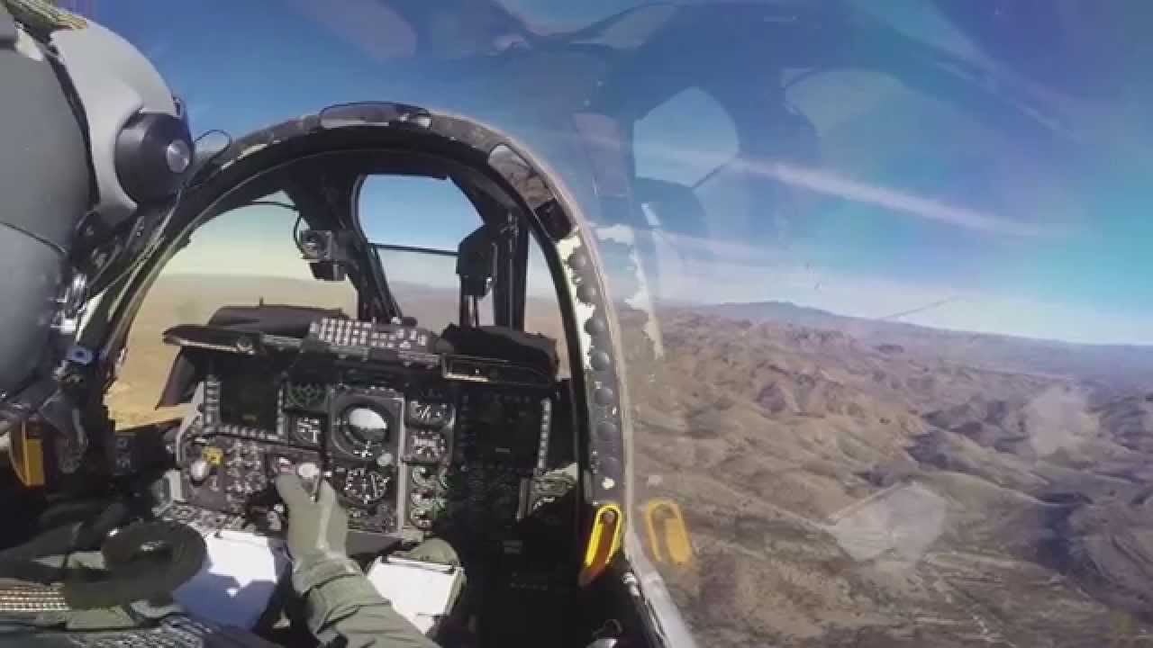 Pilot's View From A-10 Thunderbolt - YouTube