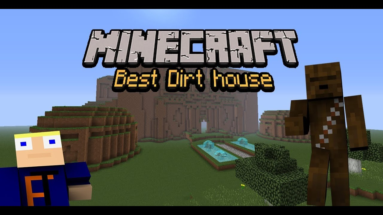 minecraft best dirt house in the world youtube