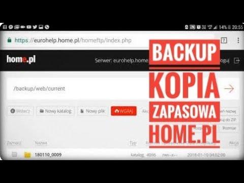 Jak działa backup na serwerze HOME.pl ?