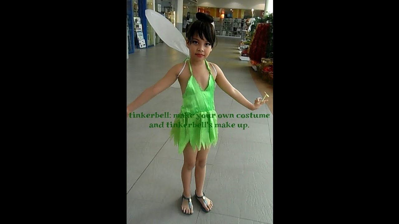 diy do your own tinkerbell costume and make up youtube