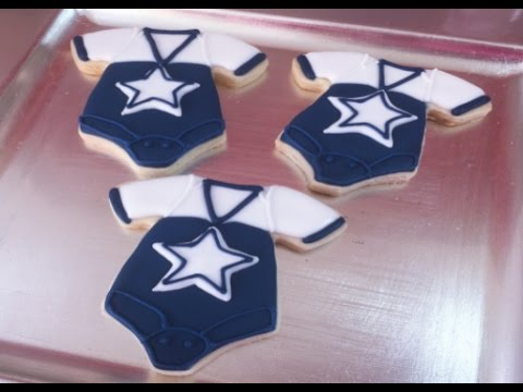Dallas Cowboys Baby Onesie Cookies Baby Shower YouTube