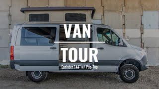 VAN TOUR | Sprinter 4x4 144 Pop Top Custom Van Build | Rossmönster Vans