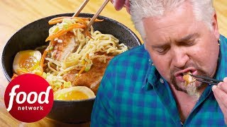 Guy Tries Out A Katsu Curry Ramen Made By An Optometrist | Diners, Drive-Ins & Dives