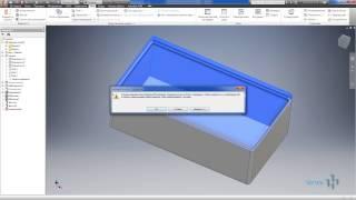 Видеоурок 01.Построение 3D модели пластиковой коробки в AutoCad Invertor