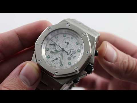 28a5ded2807 Pre-Owned Audemars Piguet Royal Oak Offshore Perpetual Calendar Chronograph  25854TI.OO.115TI.01 - YouTube