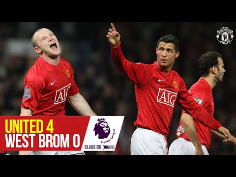 Premier League Classic | Rooney, Ronaldo, Berbatov & Nani punish West Brom | Man Utd 4-0 WBA (08/09)