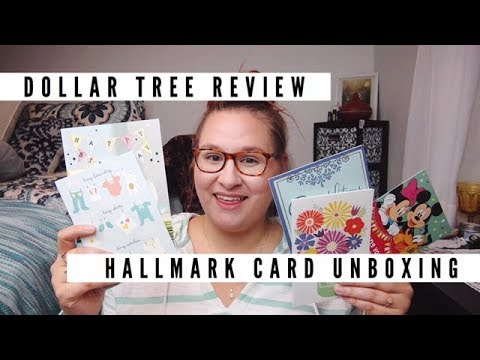 Dollar Tree Hallmark Cards?! // Expressions from Hallmark & Heartline a Hallmark Company Card Review