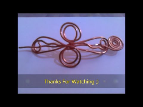 Homemade Hair Barrette from copper wire