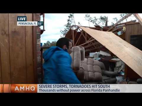 Severe Storms Hit Pensacola, FL