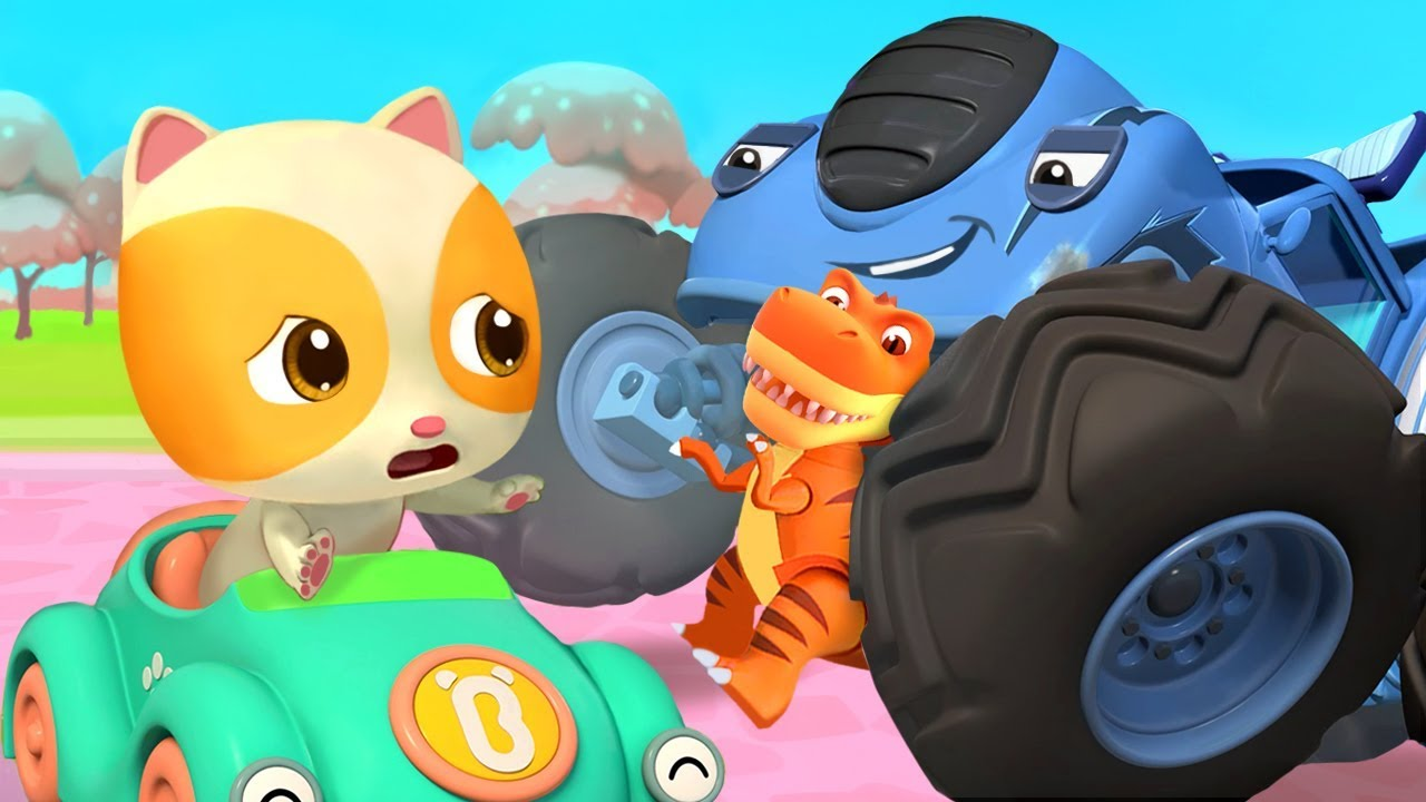 Mèo con Mimi và xe tải gây rối | Xe hơi của bé | Nhạc thiếu nhi vui nhộn | BabyBus
