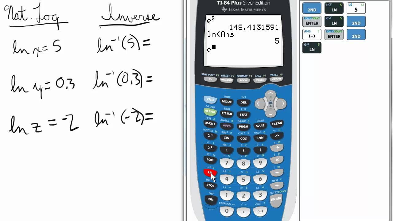 Logarithms. How to find the log of any base on the calculator.