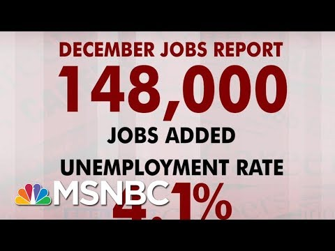 US Adds 148K Jobs In December And Unemployment At 4.1 | Morning Joe | MSNBC