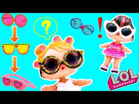 LOL Surprise Dolls Beach Story | How to make Glasses DIY