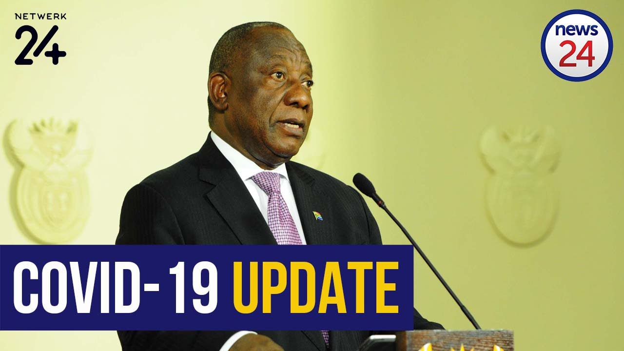 Watch Live Coronavirus President Cyril Ramaphosa Updates The Country On Covid 19 Youtube